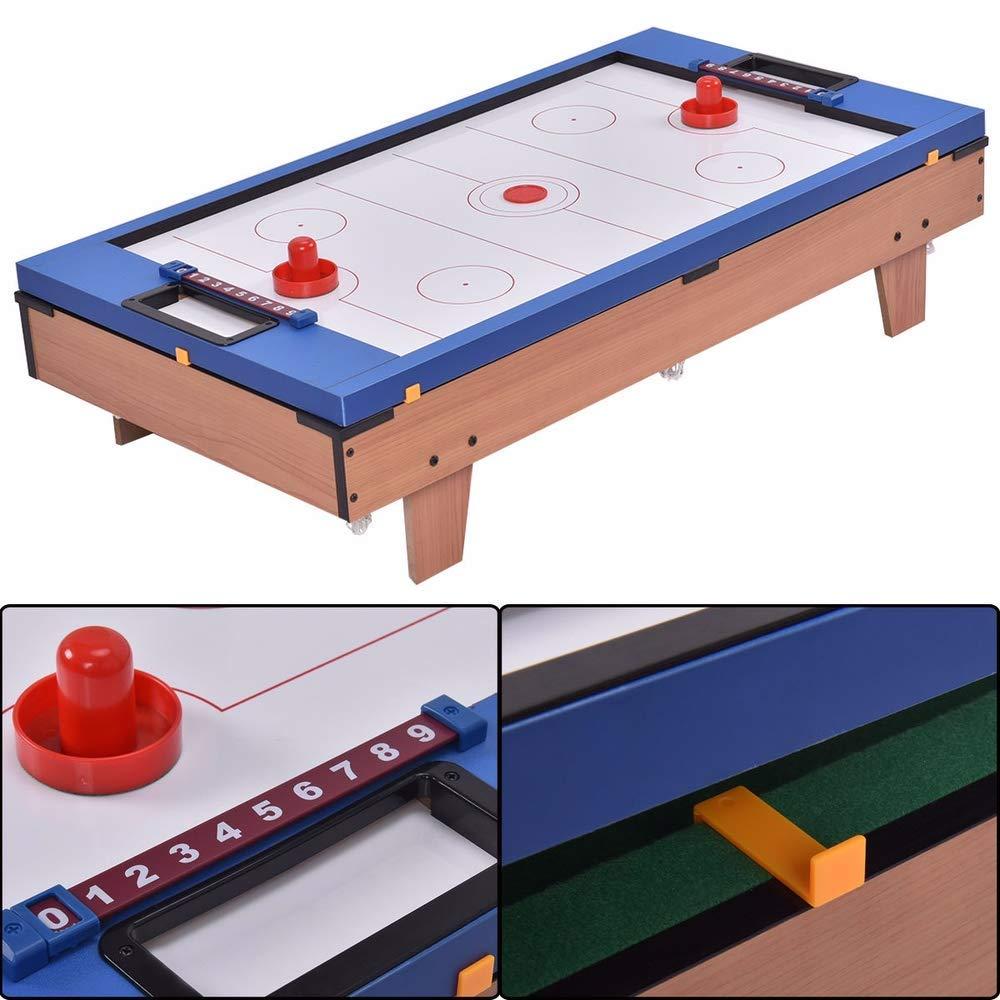 MOKACOCA 4 en 1 Multi Game Air Hockey Tennis Football Pool Table Billar Foosball Regalo: Amazon.es: Deportes y aire libre