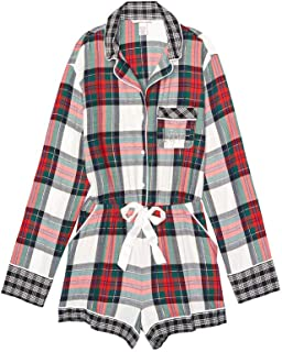Victoria's Secret Flannel Romper Pajamas