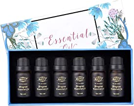 Aromatherapy Essential Oil Set, 6 x 10ml Bottles, 100% Pure Highest Therapeutic Grade Quality Essential Oil, Mother's Day ...