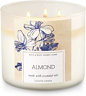 Bath and Body Works Almond Scented Candle Made with Almond and Sandalwood Essential Oils
