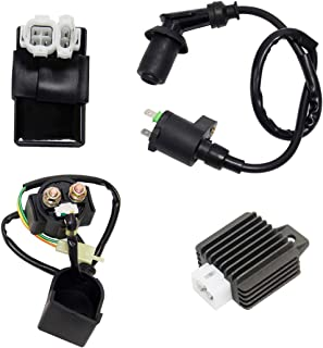 Wisamic Ignition Coil CDI Solenoid Relay Voltage Regulator for GY6 50cc 125cc 150cc, ATV Scooter Moped Motorcycle Ignition Rebuild Kit