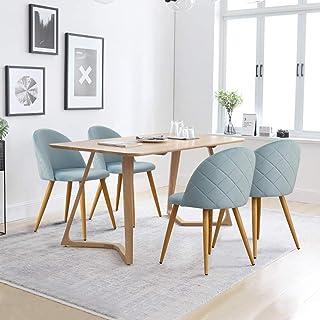 CLIPOP - Juego de 4 sillas de Comedor de Terciopelo con