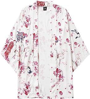 Cárdigan Hombre Camisas Manga Corta con Estampado Flores Tallas Grande Camisa Slim Fit Deporte Slim Fit Tops Shirt Verano ...