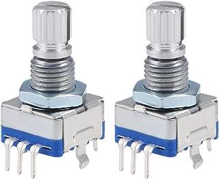 uxcell 360 Degree Rotary Encoder Code Switch Digital Potentiometer EC11 7 Pins 15mm Shaft 2pcs