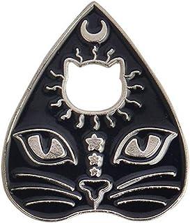 Angoter Gotica Magia Cat Paw Spilla Smalto Pin Strega Footprints Luna Stella Coat Patriottismo Perni del Risvolto Regali d...