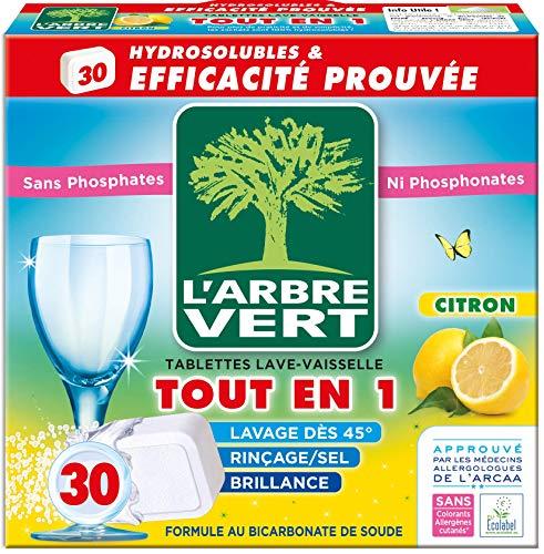 L\'Arbre Vert Spülmaschinentabs, Zitrone, wasserlöslich, alles in 1, 30 Dosen 28705