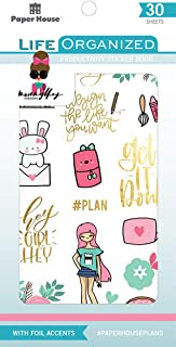 Paper House Productions STBK-0001E Productivity 30 Sheet Planner Sticker Book, Assorted Colors