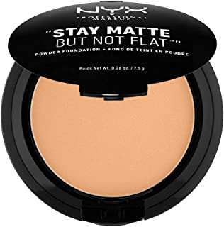 NYX PROFESSIONAL MAKEUP Stay Matte But Not Flat Powder Foundation, Soft Beige
