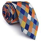 shlax&wing La Moda único Hombre Seda Corbatas Para Multicolor a...