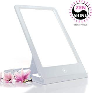 ZenShine Portable Light Therapy Energy Lamp, Daylight Full Spectrum Light Lamp, 10000 LUX Adjustable LED Light, Tablet One Touch, 100% UV Free by Sensual-U