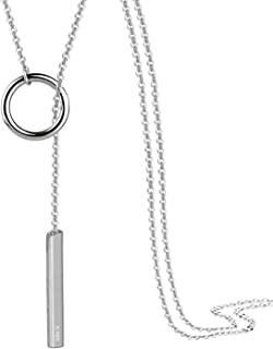 Perfect 4U Round Long Necklace 925 Sterling Silver Chain for Women Handcrafted Jewelry 16