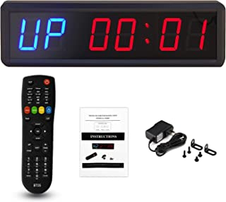 BTBSIGN 1.8'' LED Interval Workout Timer Countdown Stopwatch