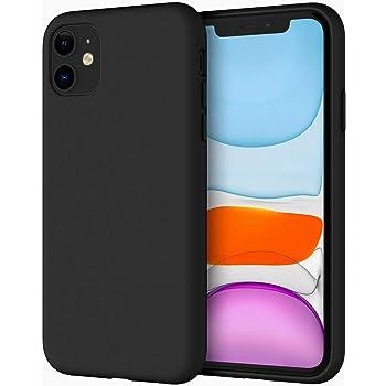"JETech Funda de Silicona Compatible iPhone 11 (2019) 6,1"", Sedoso-Tacto Suave, Cubierta a Prueba de Golpes con Forro de Microfibra (Negro)"