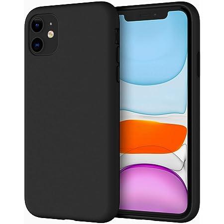 JETech Cover in Silicone Compatibile iPhone 11 (2019), 6,1 Pollici, Custodia Protettiva con Tutto Il Corpo Tocco Morbido setoso, Cover Antiurto con Fodera in Microfibra, Nero