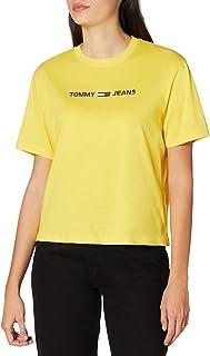 Tommy_Jeans Women's TJW MODERN LINEAR LOGO TEE Shirt