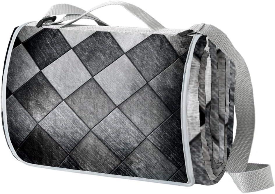 XJJUSC Metallic Grid Waterproof Picnic Large Sale special overseas price Blanket Extra San