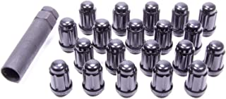 "Gorilla Automotive 21183BC 1/2"" Black Tuner Lug Nut, (Pack of 20),Black Chrome"