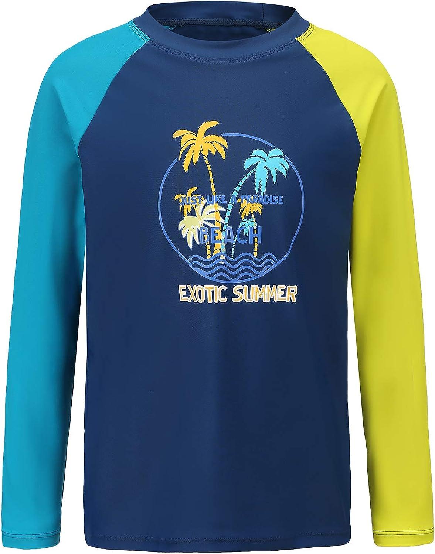 Challenge the lowest price of Japan Kids Swim NEW Shirt Boys Long Sleeve Rash P Sun Shirts 50+ UPF Guard