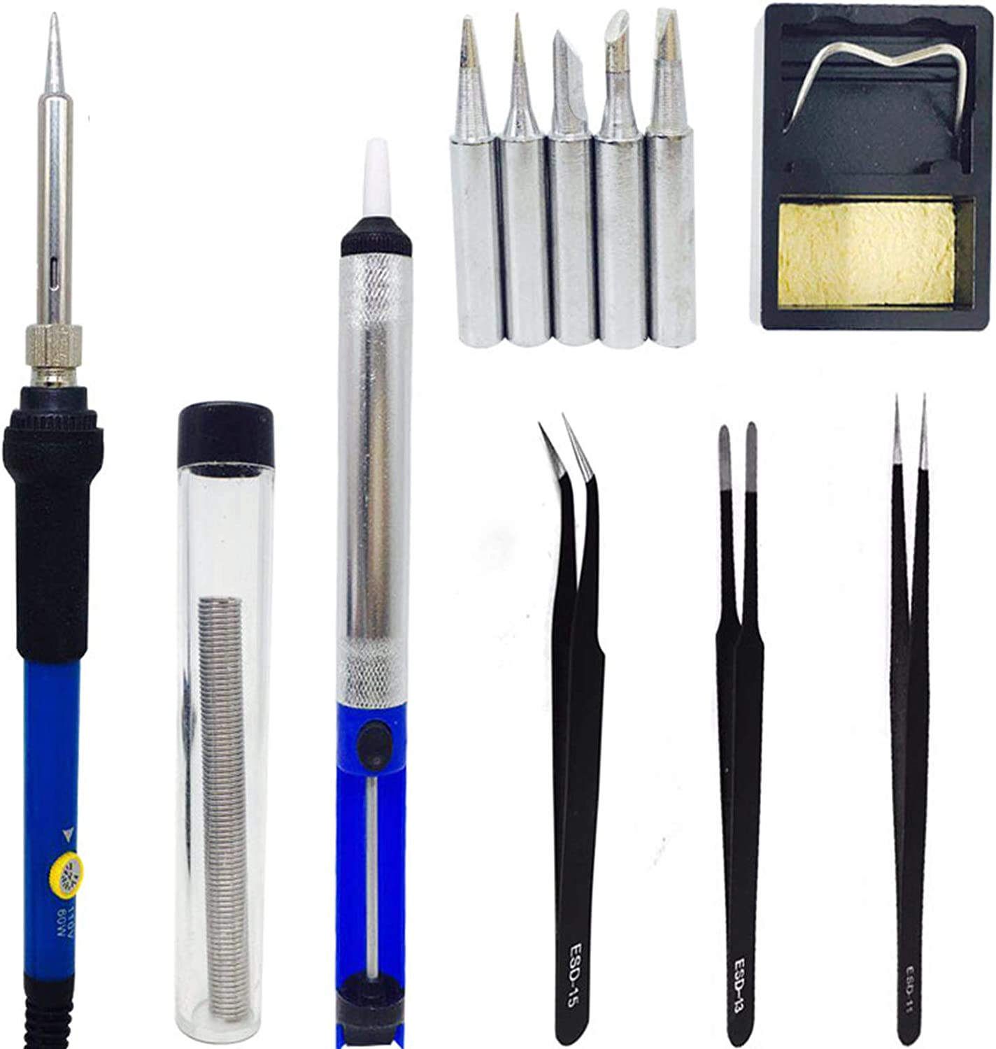 AKEFG Soldering Factory outlet Iron Selling and selling Kit 60W Tools Welding AdjustableTemperature