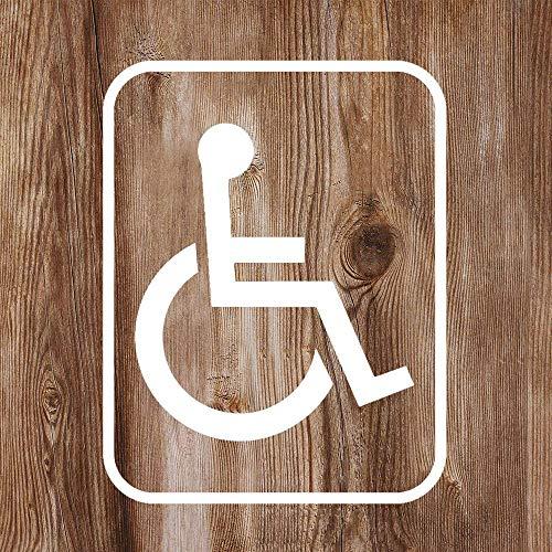 Vinyl-Aufkleber mit Handicap-Symbol, lustiger Aufkleber für Rollstuhl, Behinderte, gestanzte Aufkleber für Auto, Stoßstange, Laptop, LKW, Fenster, Wände und mehr, weiß