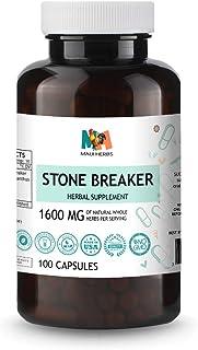 Chanca Piedra   Stone Breaker 100 Vegan Capsules, 1600MG, Organic Stone Breaker Herb (Chanca Piedra, Phylla...