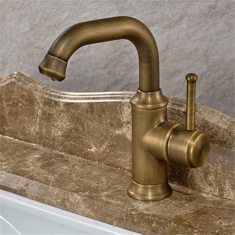 Brass Chrome Modern Faucet Brass Antique Hot Cold Single Handle Water Sink Mixer Bathroom Deck Mounted Basin Faucet