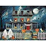 Bits and Pieces - 1000 Piece Jigsaw Puzzle for Adults 20' x 27' - Enter If You Dare - 1000 pc Haunted House Halloween Trick or Treat Jigsaw by Artist Ruane Manning