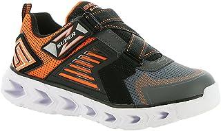 Skechers Hypno-Flash 2.0 - Rapid Quake Charcoal/Orange Kids Boys Light-Up Sneaker Size 12M