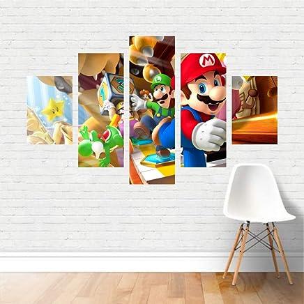 Quadro Mario Bros e Luigi Game Jogo Nintendo NES Tela Canvas