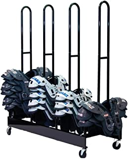 Champion Sports Four Stack Football Shoulder Pad Rack (Black)