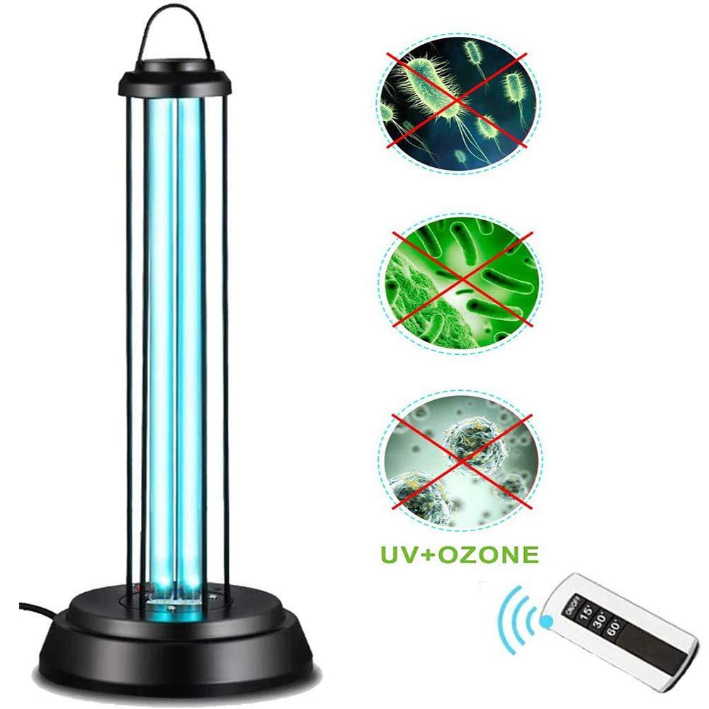 L/ámpara de desinfecci/ón UV L/ámpara de esterilizaci/ón por ozono UV La l/ámpara de desinfecci/ón UV mata 99.9 bacterias bacterianas del hongo del hongo control remoto con portal/ámparas 60W,No ozone