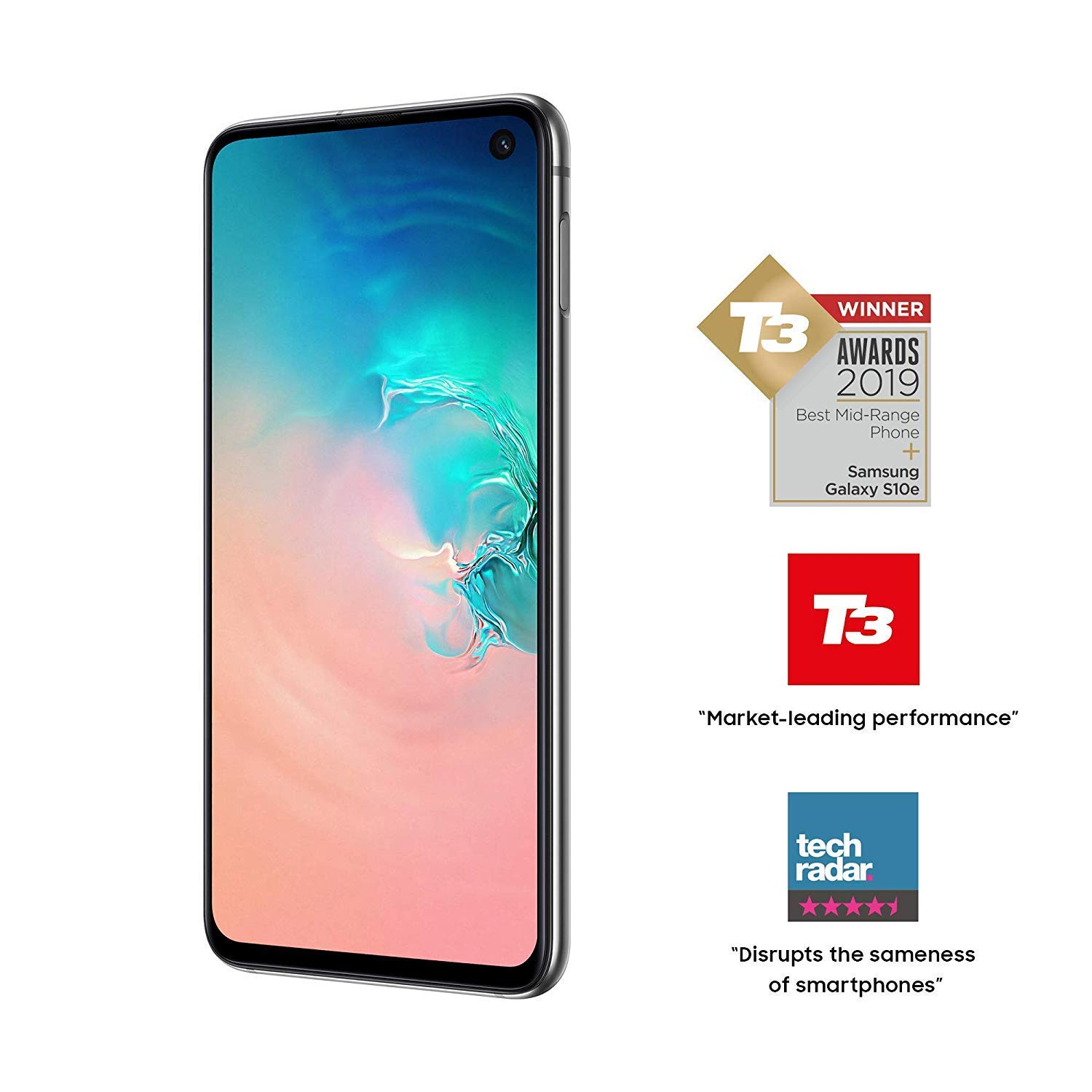Samsung Galaxy S10e 128GB Single SIM Prism White Versión Inglesa ...