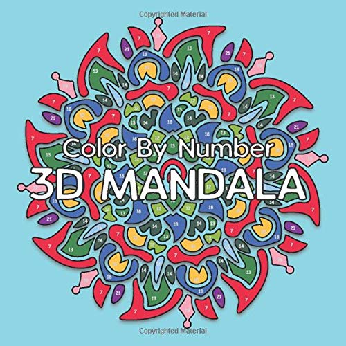 3D MANDALA Color By Number
