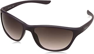 نظارات شمسية من Fastrack Wrap-Around للنساء، أرجواني بعدسات سوداء P406PR1F عدسه 59mm