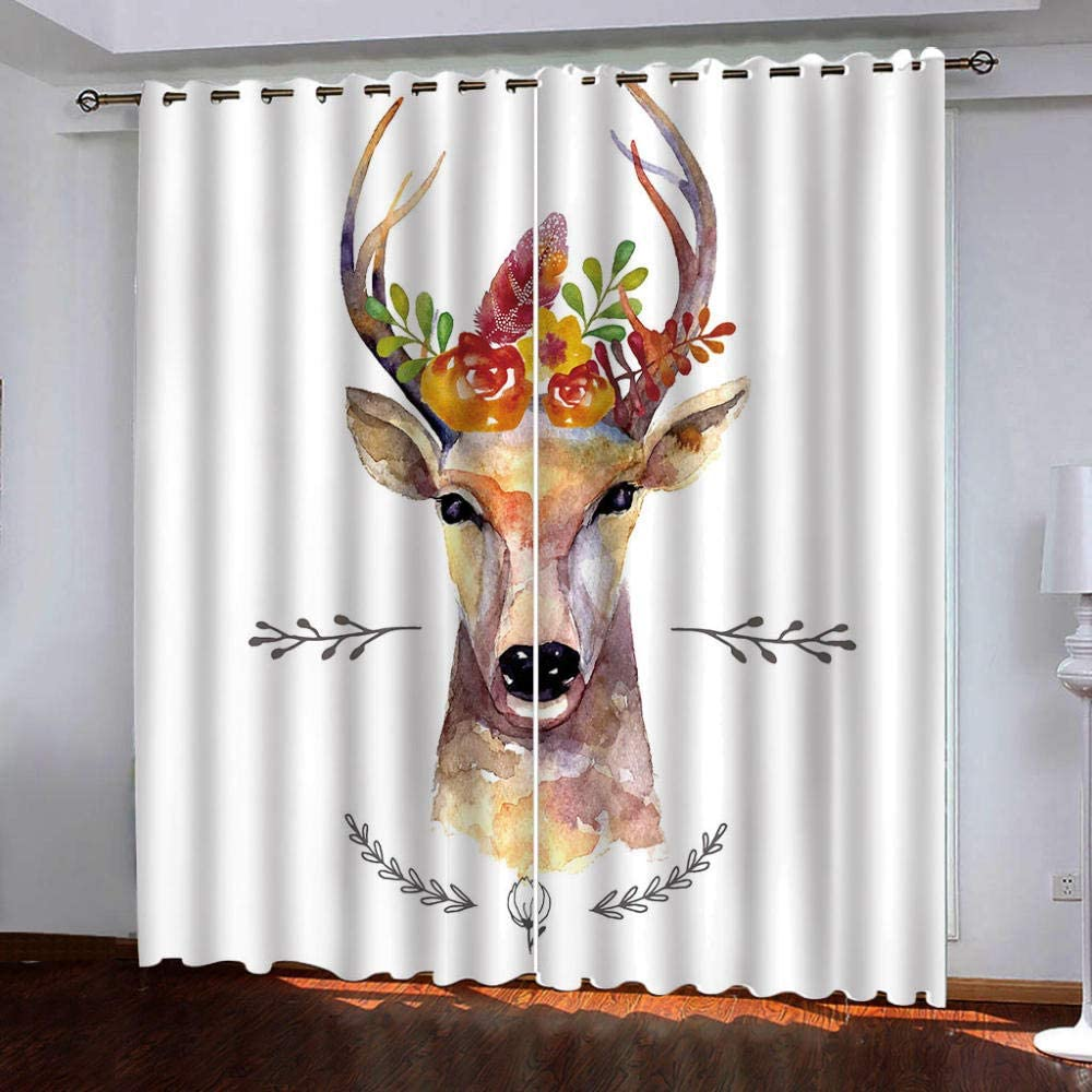 Ranking TOP18 Thermal Insulated Grommet All items free shipping Curtains,Animal Windo Giraffe for