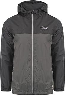 Tokyo Laundry Mens Lightweight Windbreaker Hooded Jacket Carmel New Zip Up Coat