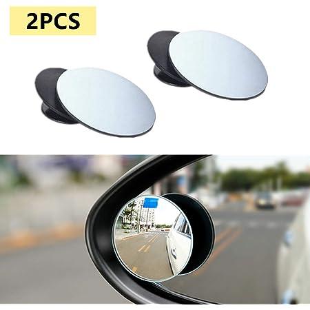 Buygoo 2pcs Auto Toter Winkel Spiegel Totwinkel Spiegel Auto 360 Grad Rotation Verstellbar Weitwinkelspiegel Selbstklebende Blindspiegel Für Alle Autospiegel Auto