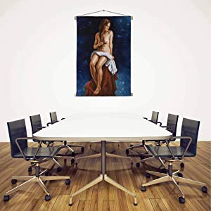 Artzfolio Artwork of A Young Woman D2 Silk Painting Tapestry Scroll Art Hanging 18 X 24.2Inch