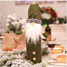 Isa Faceless Doll Champagne Bottle Set Embroidery Santa Claus Doll Christmas Decoration Supplies,Green
