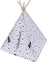 M I A Husdjur tipi tält hund valp kattbädd stjärna tryck tyg grotta hus med kudde för husdjur inomhus utomhus
