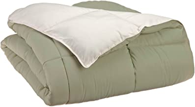 Superior Reversible Down Alternative Comforter, Medium Weight Bedding for All Season Use, Fluffy, Warm, Soft & Hypoallergenic - King Size, Ivory & Sage
