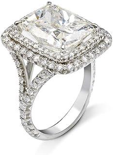 Princess Cut Halo Engagement RingSplit Shank RingWedding Bridal RingsGift For HerPromise Ring2.50 CT Diamond925 Silver14K White Gold