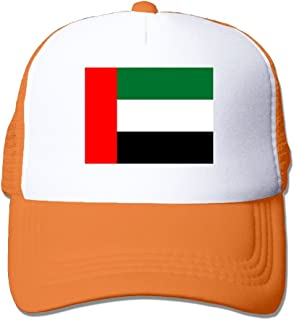 Flag Of The United Arab Emirates Adult Grid Baseball Caps Adjustable sunshade Hat Mesh Trucker Hat Snapback Cap
