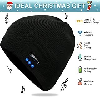 Bluetooth Beanie, Bluetooth Hat Wireless, Gift for Men Women, Headphones Bluetooth Cap, Bluetooth Stocking Hat, Gifts for Christmas Birthday Thanksgiving Day, Hands-Free, Washable, Long Playtime