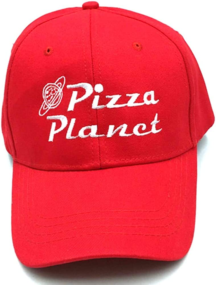 Adult Hat Pizza Planet Donut Embroidered Baseball Cap Adjustable Cotton Dad Hats Sun Hats for Men Women (Red Style 6)