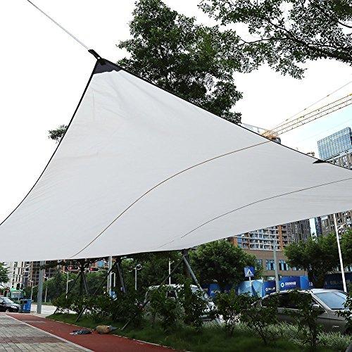 Yosoo Voile d'ombrage rectangulaire Jardin, terrasse, Rue et étrangères, protecion UV,imperméable, avec Sac de Transport et Cordes (4.5 x 5m, Beige)