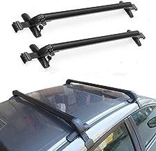 "Younar 43"" Roof Rack Cross Bar Car Top Luggage Carrier Cargo Rails Black Adjustable Aluminum Universal for Car Vehicles SUV Pickup"