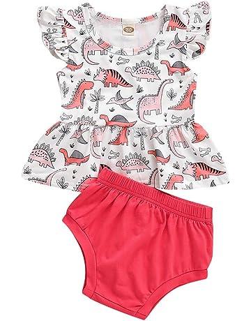 6a4cbd5016f90 ベビー服 女の子 Tシャツワンピース+ショーツ 2点セット Regoss 半袖 花柄 プリント トップス
