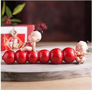 ZYLE الصراخ الحلوى الدمية الصينية الراتنج النحت، ميمون السنة الجديدة الحلي، وهذا يعني المزيد من النعم
