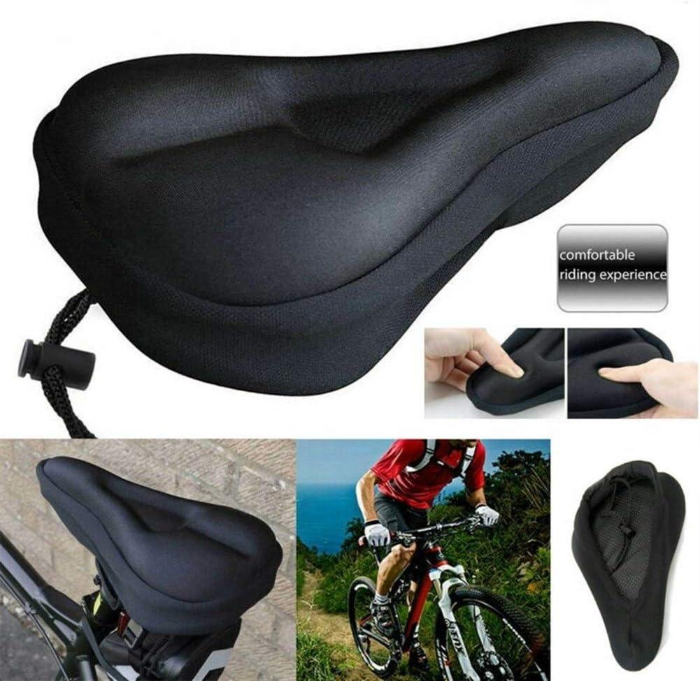 bequeme Polsterung Fahrradsattel schwarz weich Fahrradsattel Silikon Gel-Pad bequem Fahrradsattel